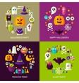 Happy Halloween Concepts Set vector image vector image