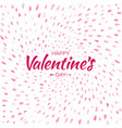 heart confetti background of valentines petals vector image vector image