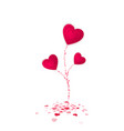 heart flower symbol of love valentines day vector image vector image