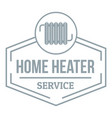 heater logo simple gray style vector image vector image