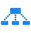 Hierarchy Scheme Grainy Texture Icon vector image vector image