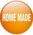 home made orange round gel isolated push button vector image vector image