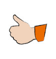 human hand with thumb up like gesture vector image