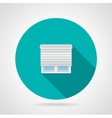 Jalousie window flat icon vector image