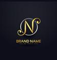 letten n logo design in creative style vector image vector image