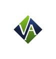 letter va modern vector image vector image