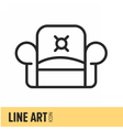 Line Art Icon vector image vector image