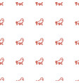 lion icon pattern seamless white background vector image vector image
