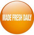 made fresh daily orange round gel isolated push vector image vector image