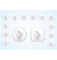 media buttons set vector image vector image