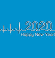 medical christmas fitness banner 2020 happy new vector image vector image