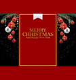 merry christmas and 2019 happy new year background vector image vector image