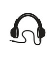 modern headphones icon vector image