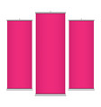 pink vertical banner templates vector image vector image