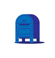 postal box vector image