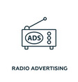 radio advertising icon symbol creative sign from vector image vector image
