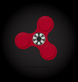 red fidget spinner stress relieving toy 3d vector image vector image