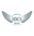 rock music logo simple gray style vector image