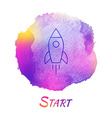 Rocket Launch Start Watercolor Concept vector image vector image