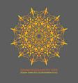 round gradient mandala on gray background eps 10 vector image