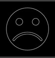 sad emoticon white color icon vector image vector image