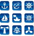 sail icons vector image vector image