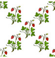 seamless pattern with garden strawberry vector image vector image