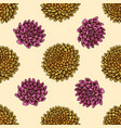 seamless pattern with hand drawn colored dahlia vector image vector image