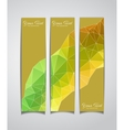 set of three yellow geometric banners vector image