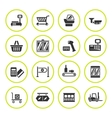 Set round icons of retail equipment vector image vector image