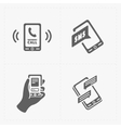 smart phone icons on White vector image