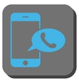 Smartphone Call Balloon Rounded Square Button vector image vector image