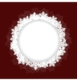 snowflakes frame on red backgournd vector image