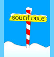 south pole sign vector image