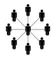 stick figure social network connection vector image