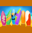 surfboards vector image vector image