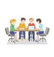 Team working Young people talking together vector image vector image