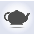 Teapot icon in gray colors vector image vector image