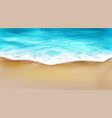 top view sea wave with foam splashing on beach vector image vector image