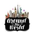 travel journey concept around world vector image