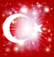turkish flag background vector image vector image