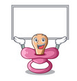 up board character childrens pacifiers for the vector image