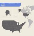 usa hi quality map vector image