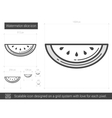 Watermelon line icon vector image vector image