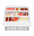 Meat products in store vector image