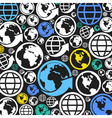 World a background vector image