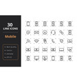 30 mobile line icons