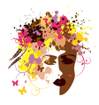 Abstract womans face vector image vector image