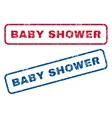 Baby Shower Rubber Stamps vector image vector image