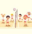 back to sport school children vector image vector image